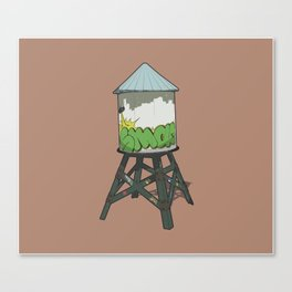 Watertower Canvas Print