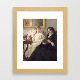 The Mother and Sister of the Artist - Marie-Joséphine & Edma by Berthe Morisot Framed Art Print