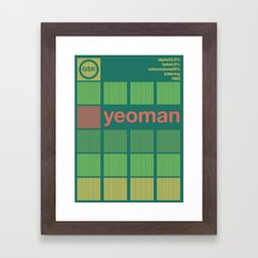 yeoman single hop Framed Art Print