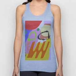 Abstrakte Formen 004 / Abstract Graffiti Composition of Unisex Tank Top