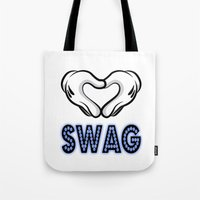 swag Tote Bags featuring SWAG by Gold Blood
