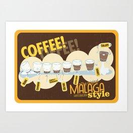 Málaga Coffee Art Print