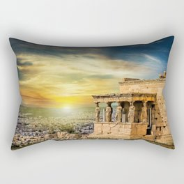 The Caryatids of Acropolis in Athens, Greece Rectangular Pillow