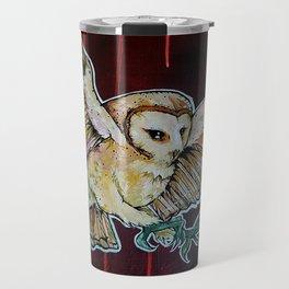 L'il Lard Butt - the Yellow Snowy Owl Travel Mug
