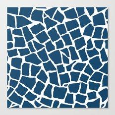 Mosaic Zoom Navy Canvas Print