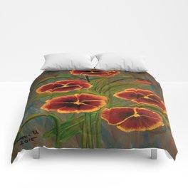 Pansies-2 Comforters