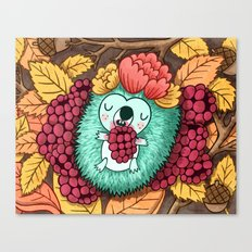 Autumn Hedgehog Canvas Print