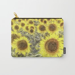 Sunflower Fields Of Summer Watercolour Carry-All Pouch