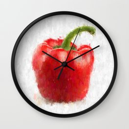 Big Red Pepper Wall Clock