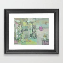 Number 6 Framed Art Print