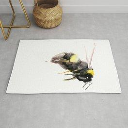 Bumblebee, bee art, bee design Rug