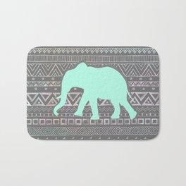 Mint Elephant  Bath Mat