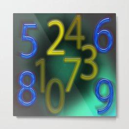 Zahlenzauber Metal Print