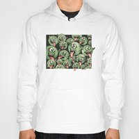 grafitti Hoodies featuring Green Graffiti Creatures by Squidoodle