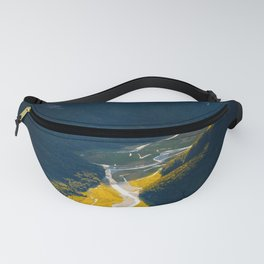 Landscape Photography Mountain Valley Stream Morning Sunlight Fanny Pack