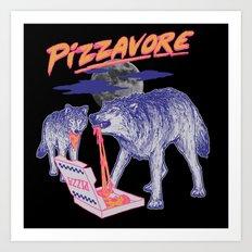 Pizzavore Art Print