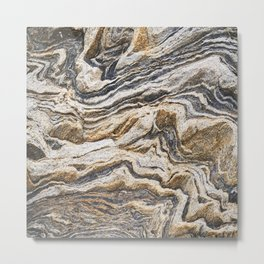 Marble layers Metal Print