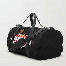 Vintage Welcome to Fabulous Las Vegas Nevada Sign on dark background Duffle Bag