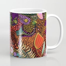 Brilliant Colorful Dot Dash Line Art Coffee Mug