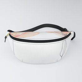 2 Pinky Flowers Fanny Pack