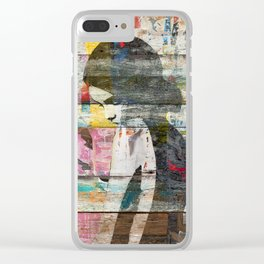 Shyness (Profile of Child) Clear iPhone Case