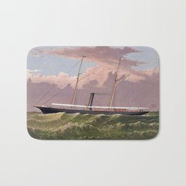 The Steam Yacht Corsair - Vintage Maritime Print Bath Mat