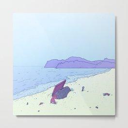 Beach Notes Metal Print