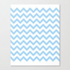 funky chevron blue pattern Canvas Print