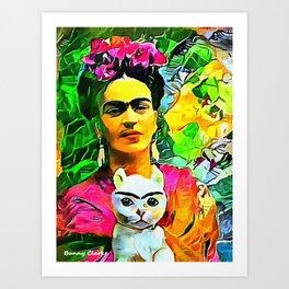 Frida's Cat Art Print