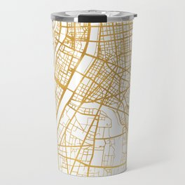LYON FRANCE CITY STREET MAP ART Travel Mug