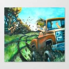 Red Neck Tubing Canvas Print