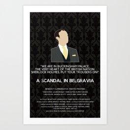 A Scandal in Belgravia - Mycroft Holmes Art Print
