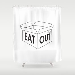 Eat Out Shower Curtain