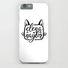Elena Naylor cat logo iPhone Case
