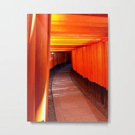 Inari Gates of Kyoto Metal Print