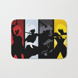 Silhouetted Huntresses Bath Mat