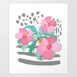 Light Hibiscus Art Print