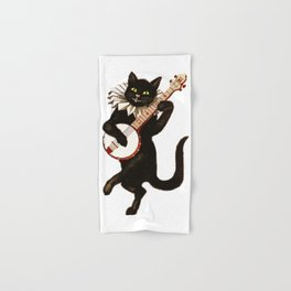 Black Halloween Cat for Decor and T Shirts Hand & Bath Towel