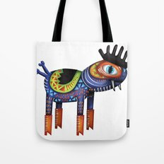 Turtle Chicken Horse Tote Bag