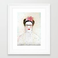 frida kahlo Framed Art Prints featuring Frida Kahlo  by Marttala