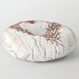Pip Berry Heart Wreath Floor Pillow