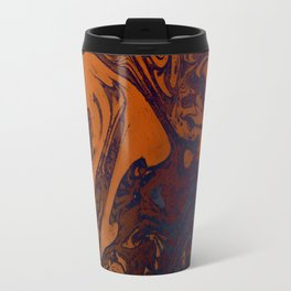 Orange Gradient Marble #marble #orange #blue #planet Travel Mug