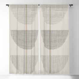 Geometric Composition III Blackout Curtain