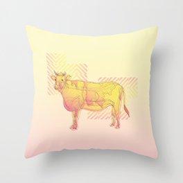 Strawberry Vanilla Milk Throw Pillow