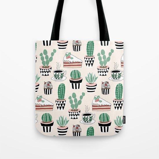 Cacti, Coffee and Cake Tote Bag