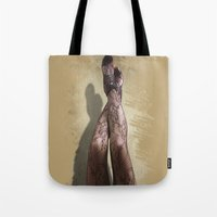 legs Tote Bags featuring Legs by Svetlana Sewell