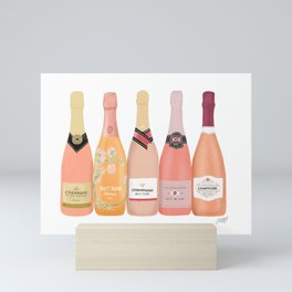 Rose Champagne Bottles Mini Art Print