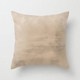 Burst of Color Pantone Hazelnut Abstract Watercolor Blend Throw Pillow