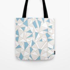Ab Nude Lines with Blue Blocks Tote Bag