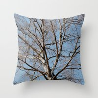 birch Throw Pillows featuring Birch by Monica Georg-Buller